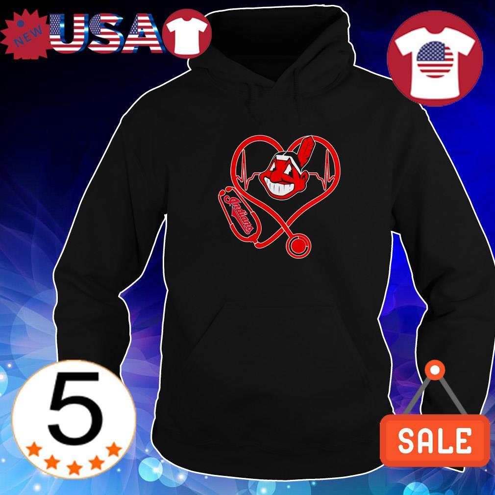 Nurse heart Cleveland Indians shirt