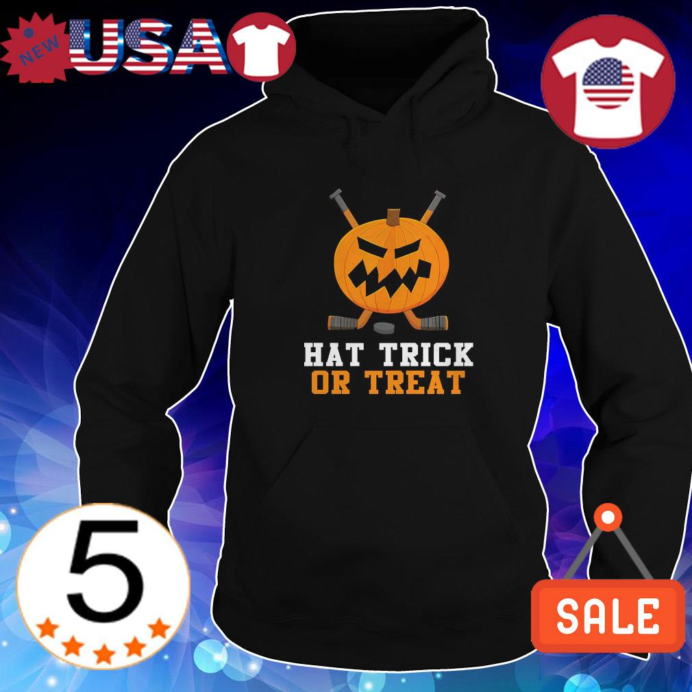Hockey hat trick or treat shirt