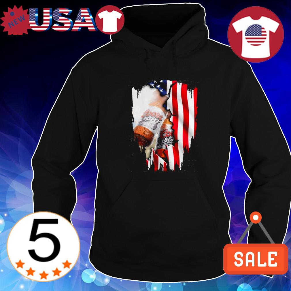 4th Of July independence day Coors Light beer shirt