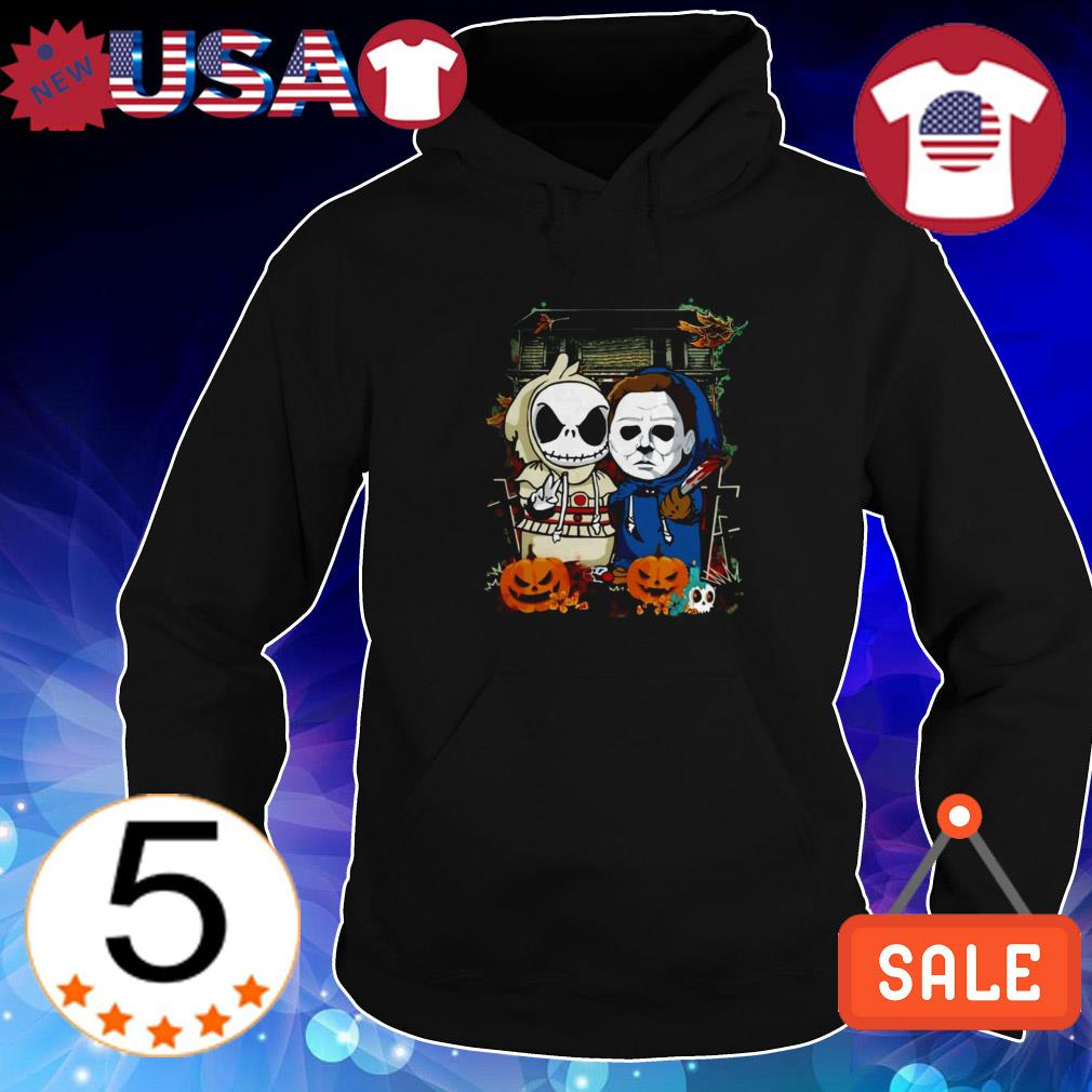 Baby Jack Skellington and Michael Myers Halloween shirt