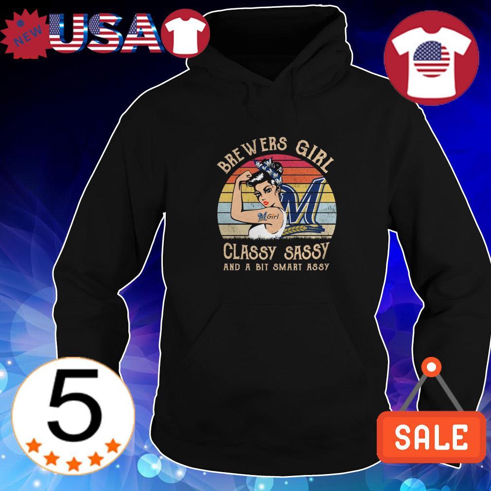 Milwaukee Brewers Girl classy sassy and a bit smart assy sunset shirt