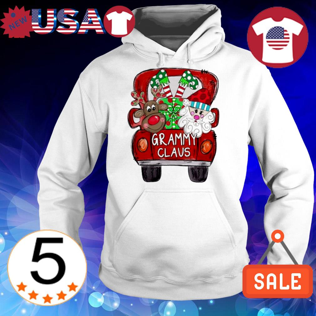 Merry Christmas Red car and gift Grammy Claus Sweater