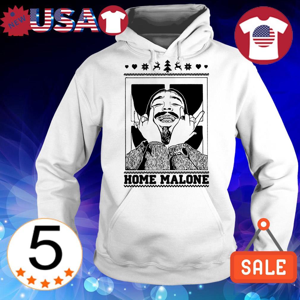 Post Malone home Malone ugly Christmas sweater