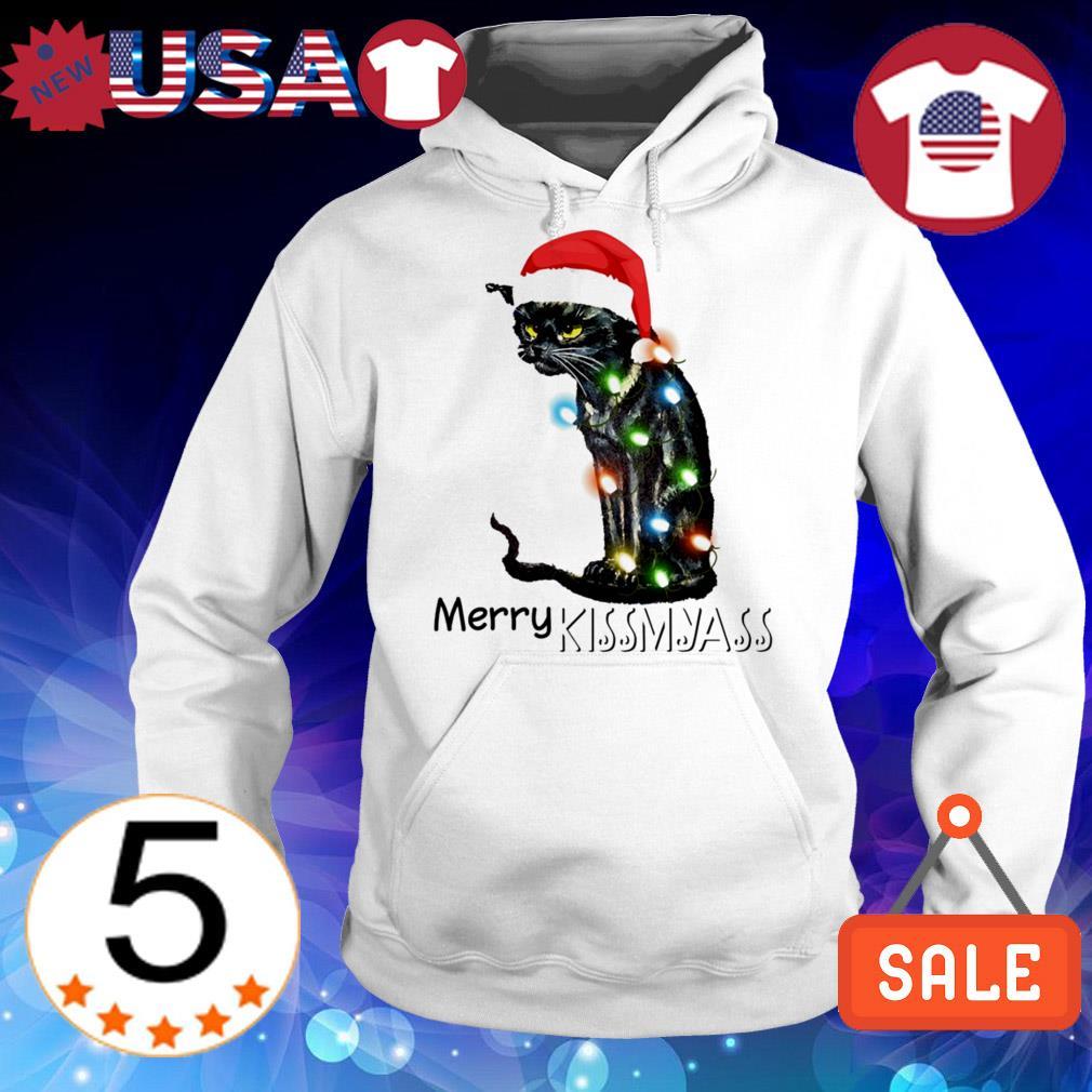 Cat Santa Merry Kissmyass Christmas sweater