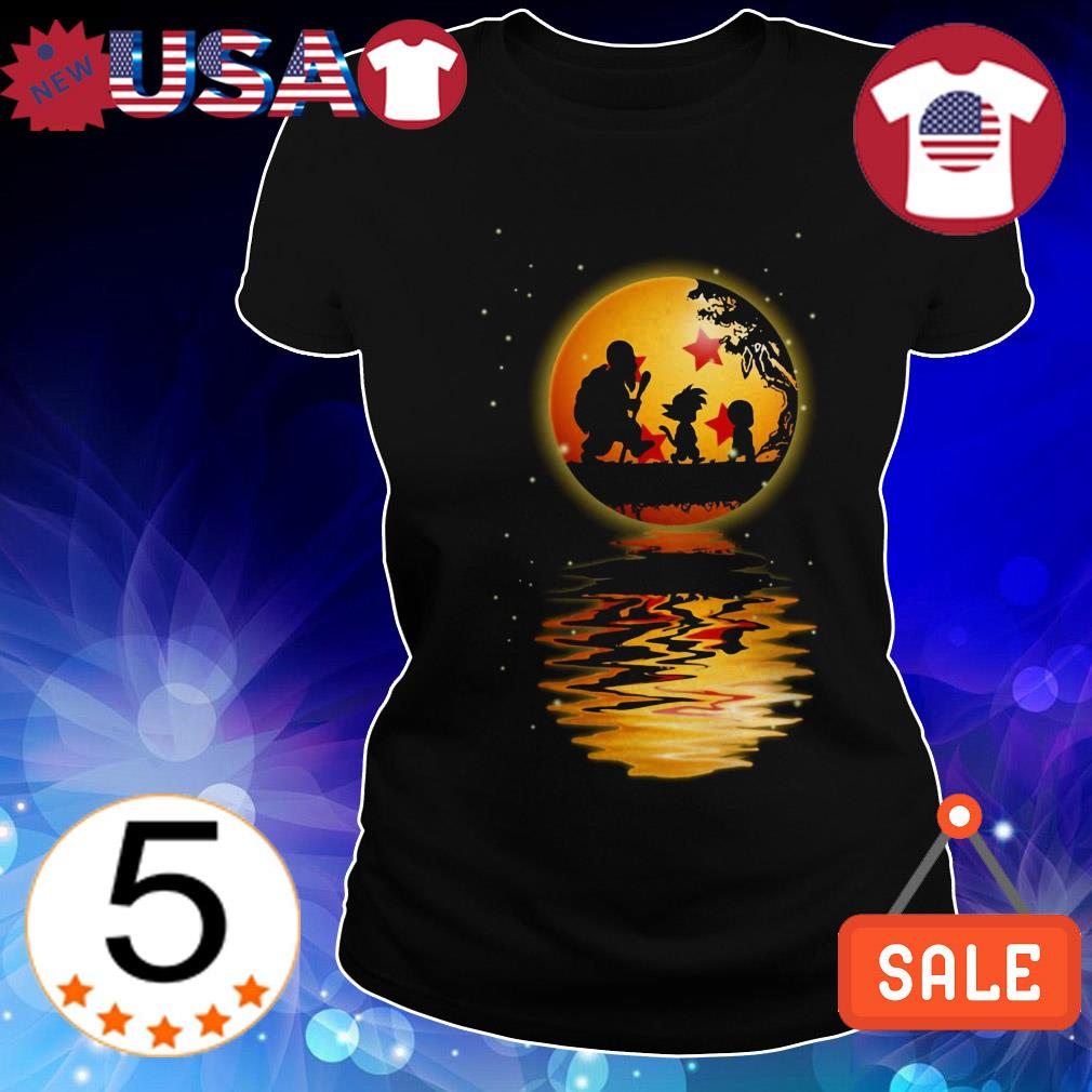 Dragon Ball Z walking on the moon water mirror shirt