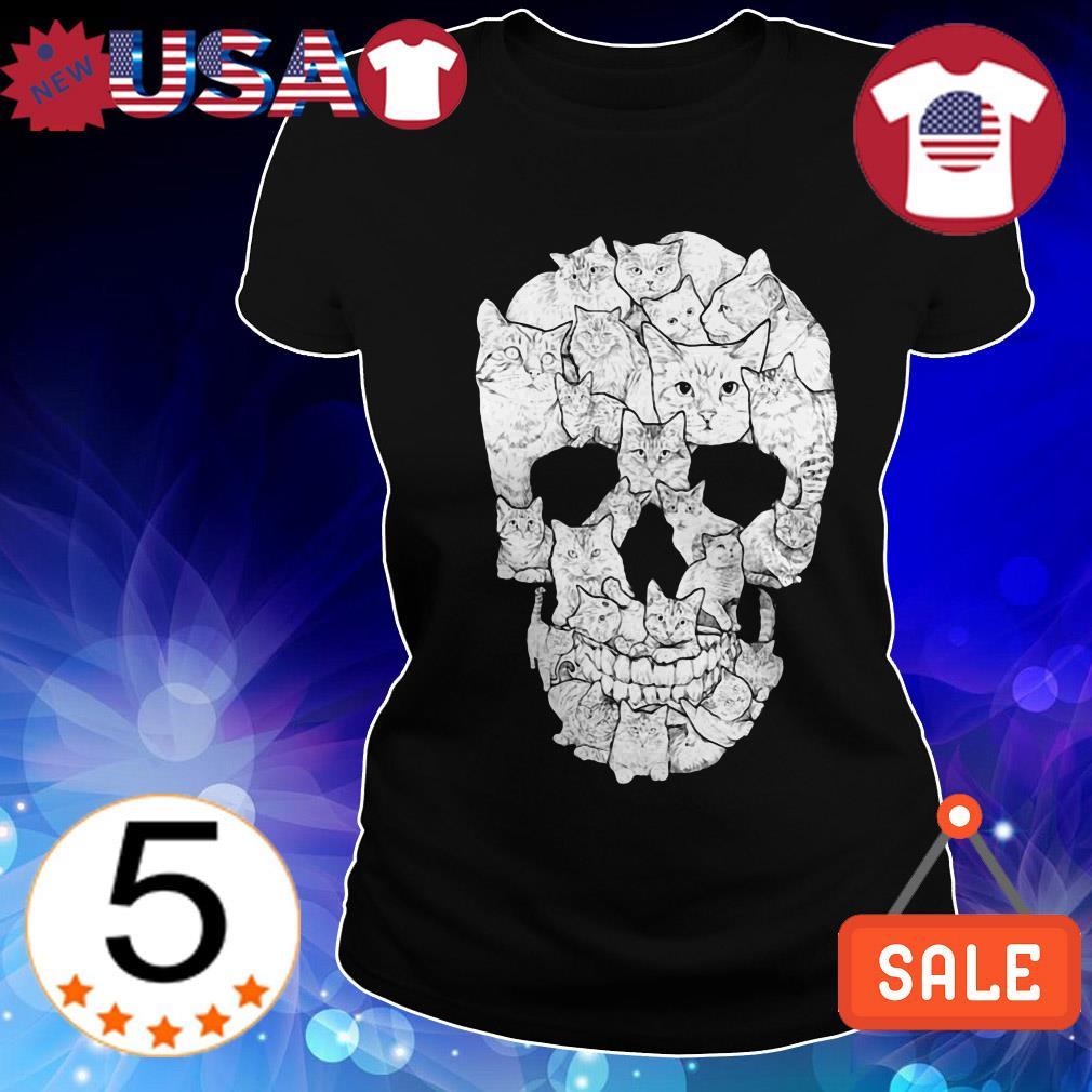 Skull and cats shirt