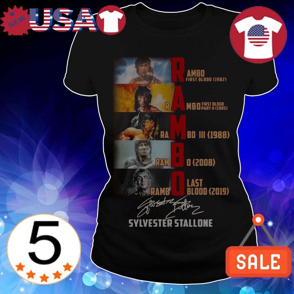 Rambo all season Sylvester Stallone signature shirt