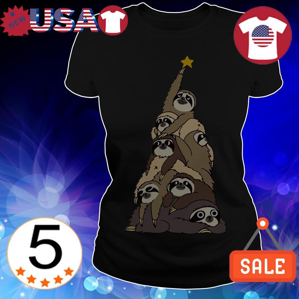 Sloth Christmas tree sweater