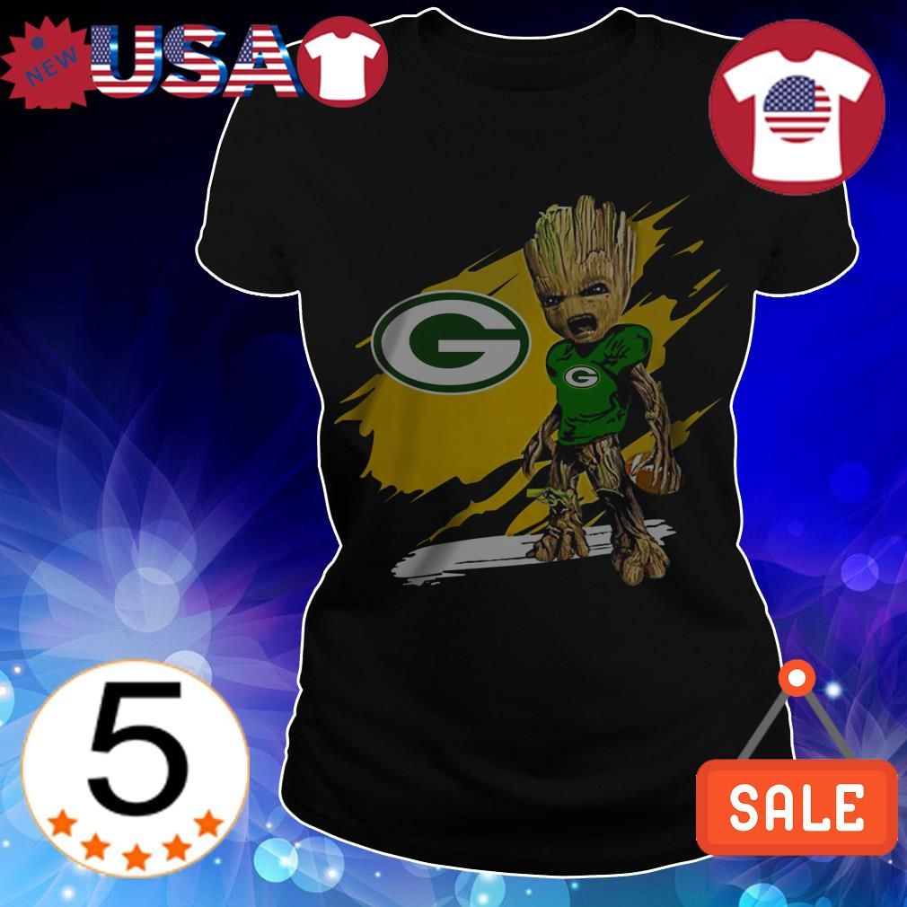 Baby Groot Green Bay Packers shirt