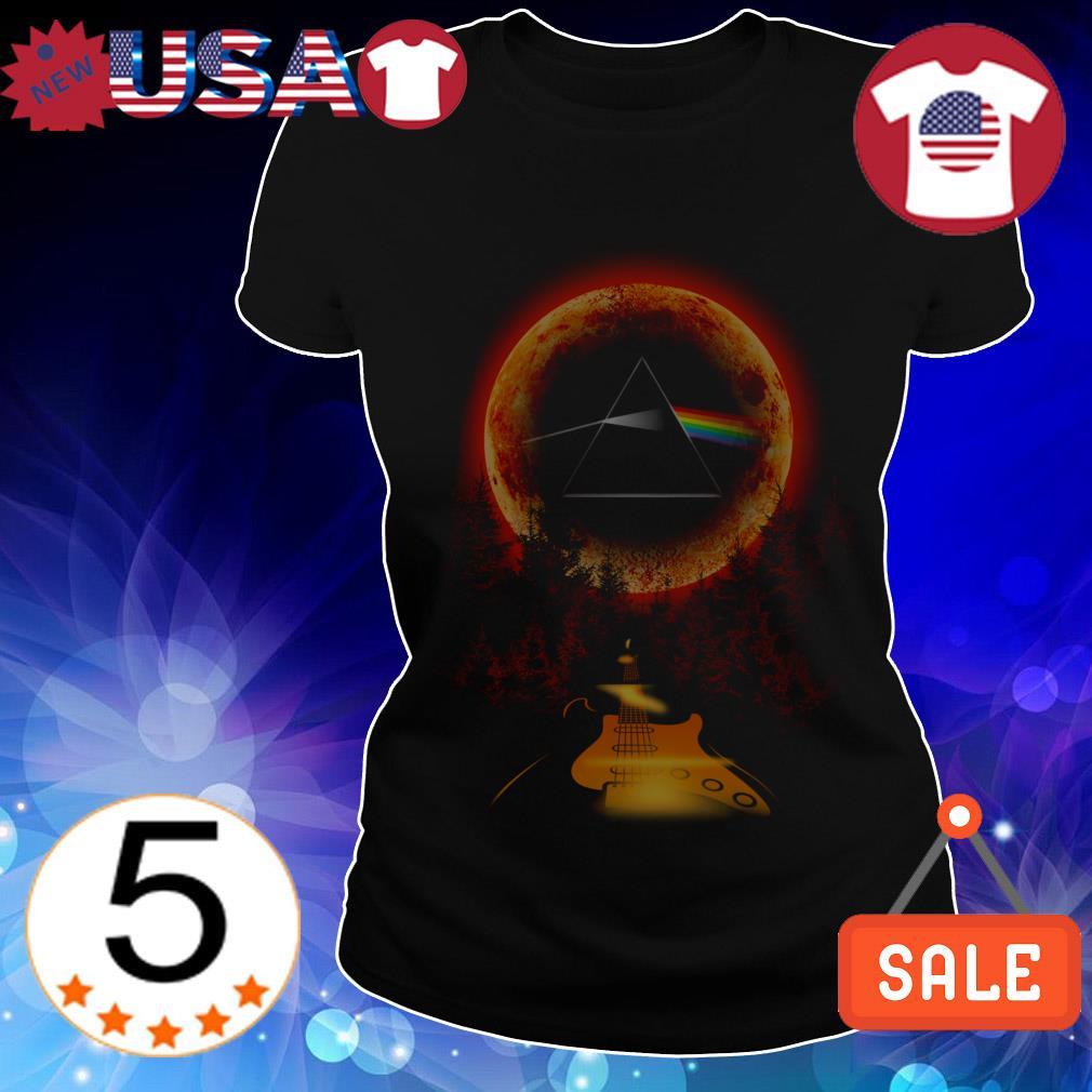 Pink Floyd guitar on the moon shirt
