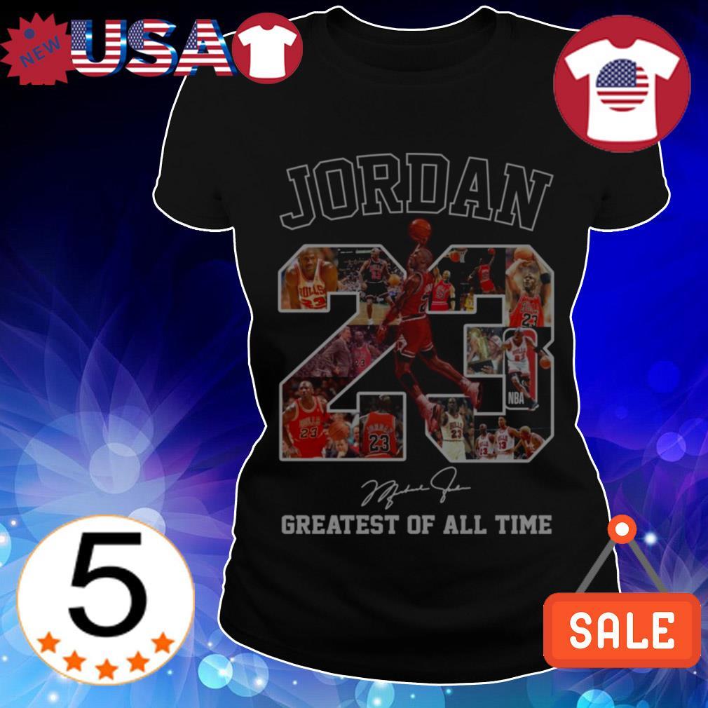 Michael Jordan 23 greatest of all time signature shirt