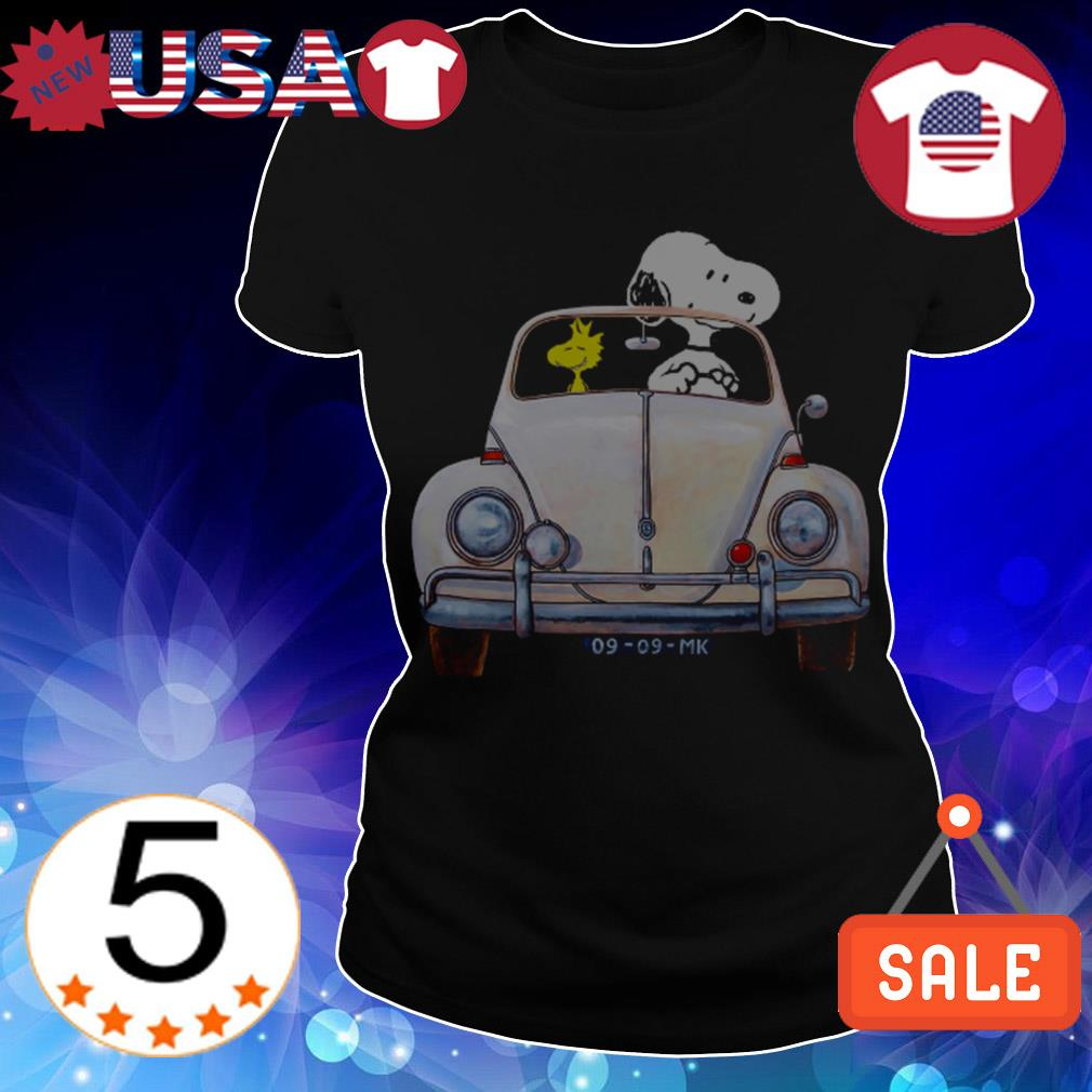 Snoopy and Woodstock riding Volkswagen shirt