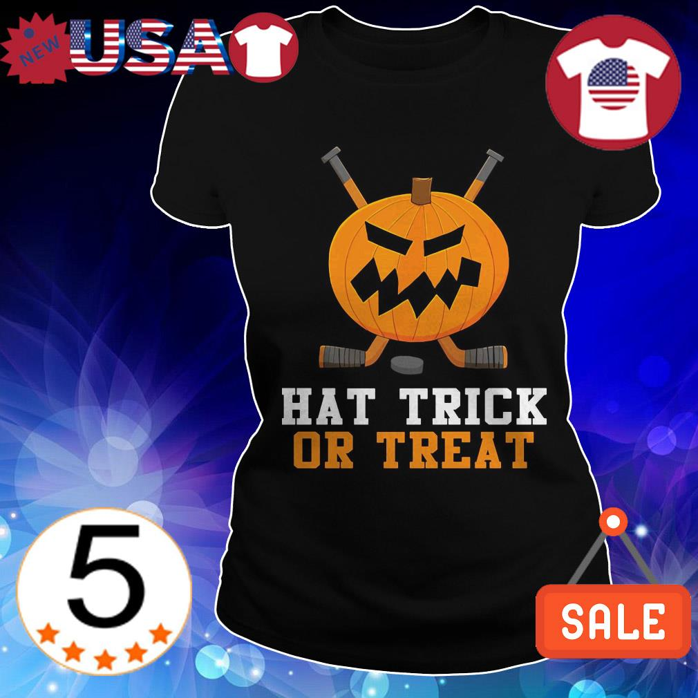 Hockey hat trick or treat shirt
