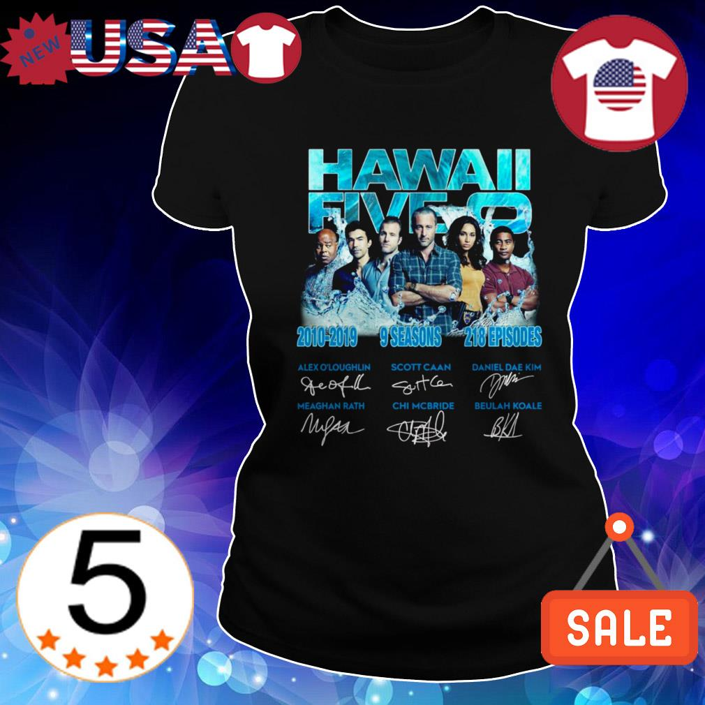 Hawaii Five 0 2010-2019 9 seasons 218 episodes signatures shirt