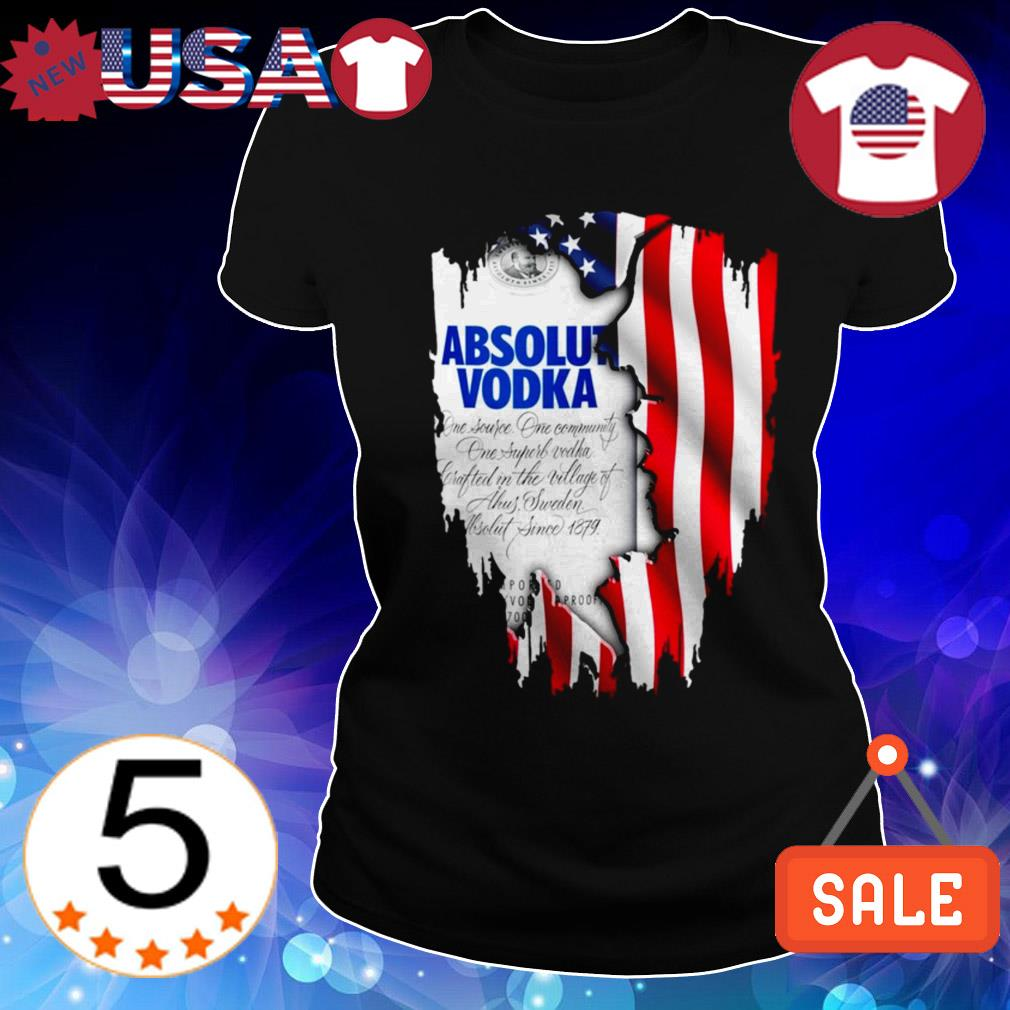 4th Of July independence day Absolut Vodka shirt