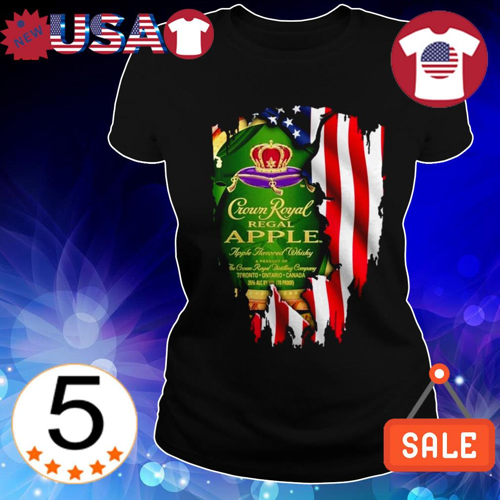 4th Of July independence day Crown Royal Regal Apple wine shirt