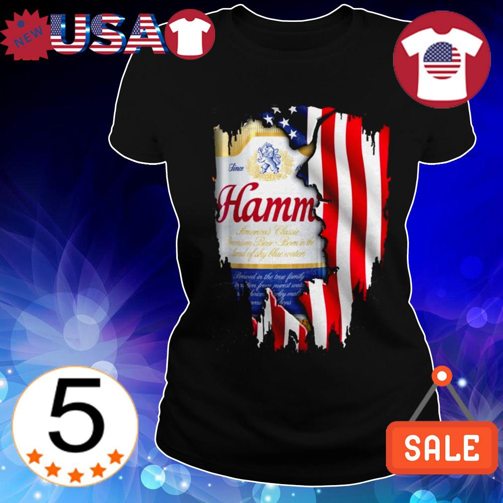 4th Of July independence day Hamm's beer shirt