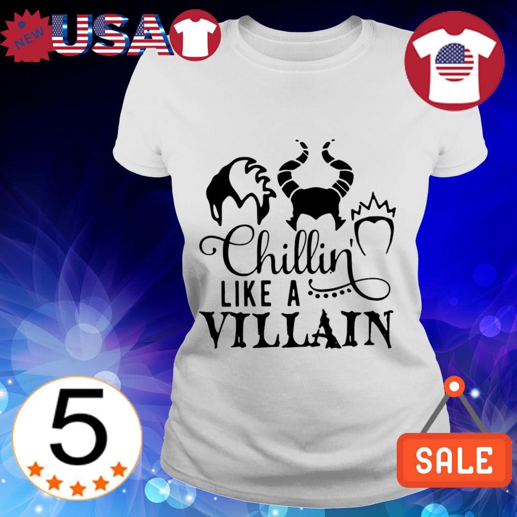 Official Chillin like a Villain Disney shirt