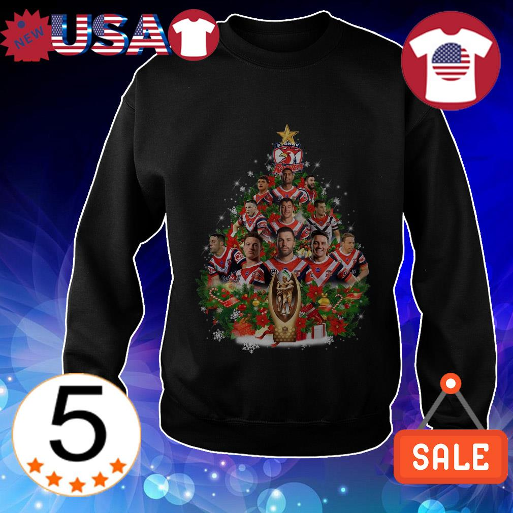 Sydney Roosters Christmas tree shirt