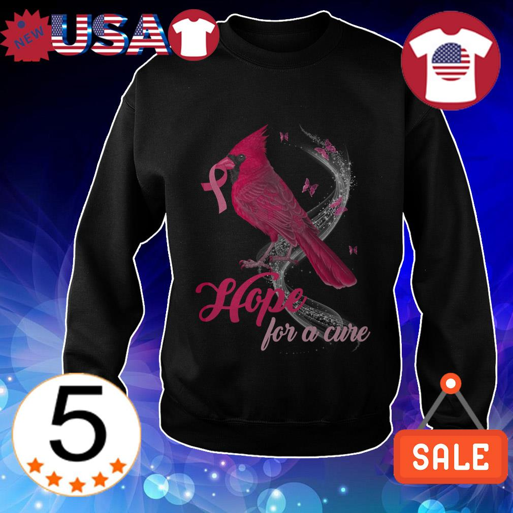 Breast Cancer Awareness Cardinal bird hope for a cure shirt