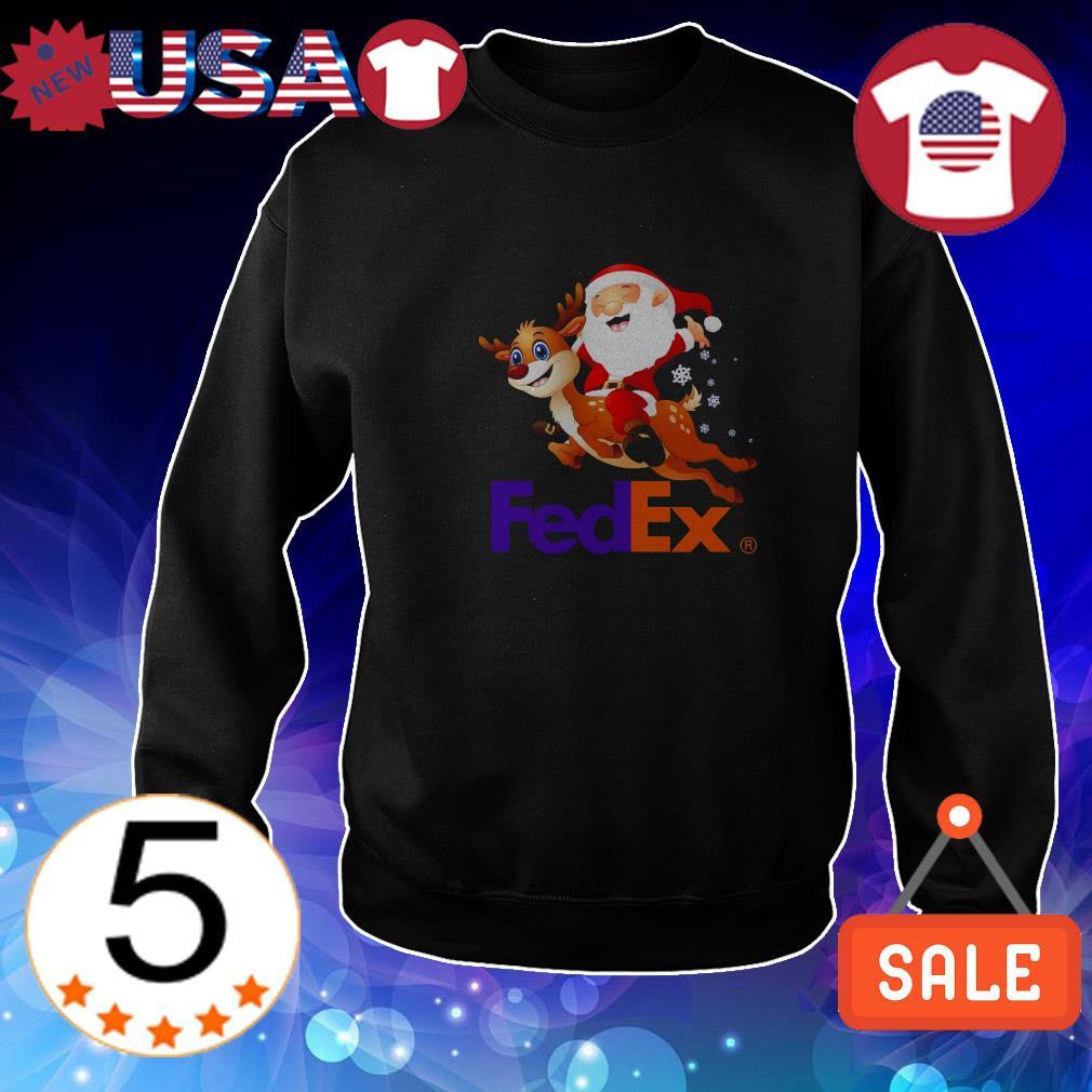 FedEx Santa Claus riding Reindeer Christmas shirt