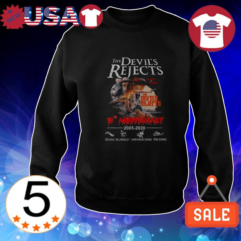 The Devil's Rejects 15th anniversary 2005-2020 signatures shirt