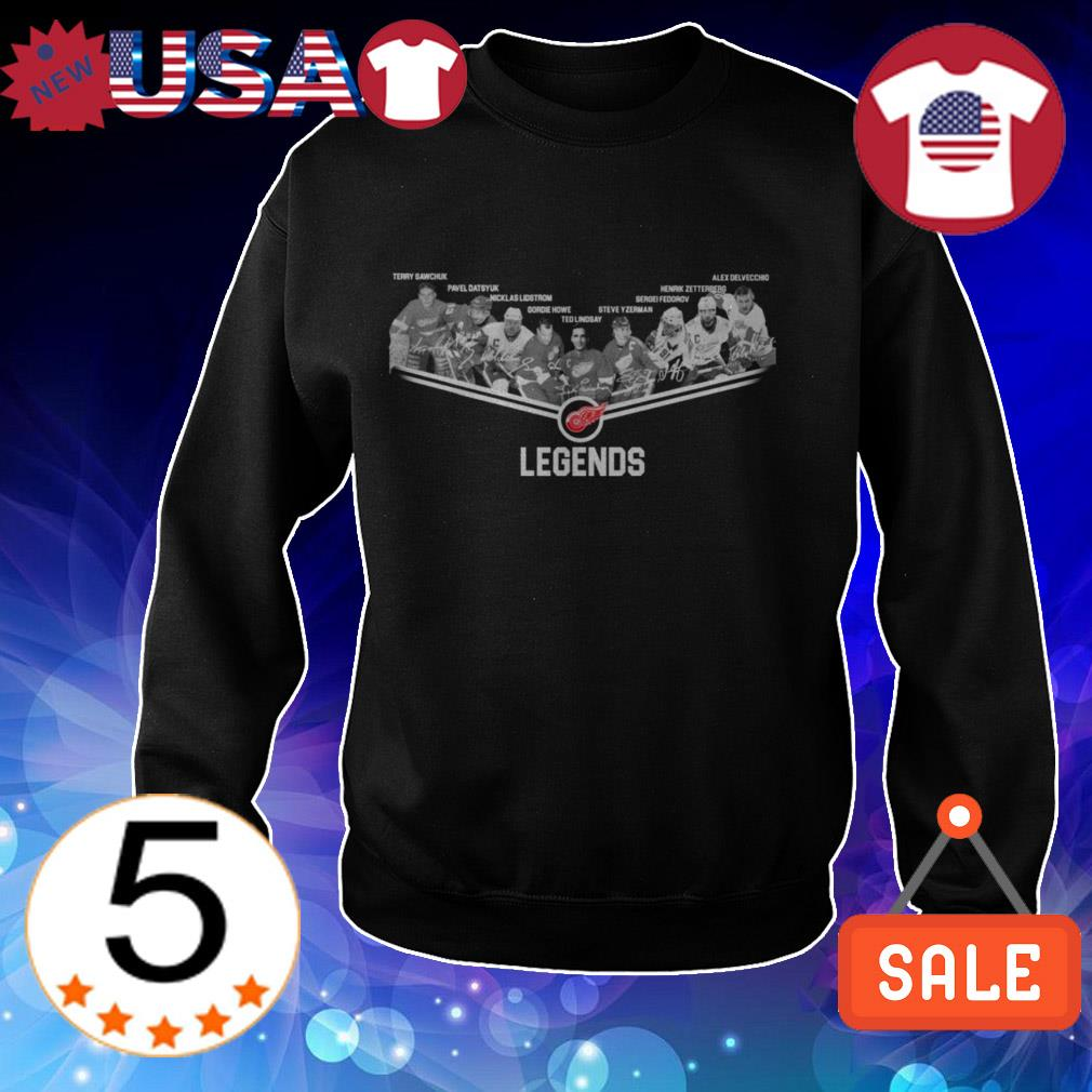 Detroit Red Wings team players legends shirt