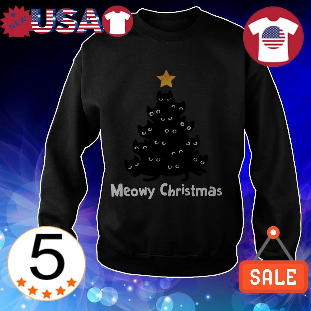 Meowy Christmas tree sweater