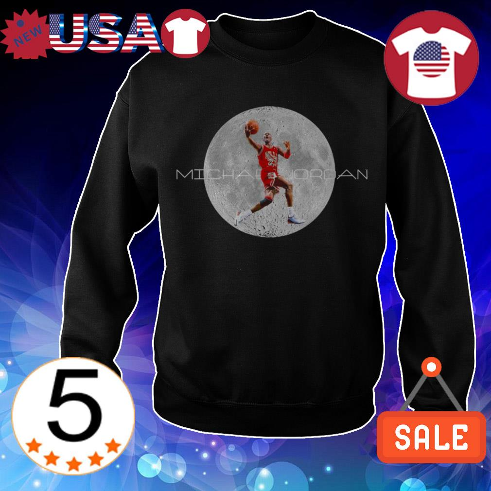 NBA 23 Michael Jordan on the moon shirt