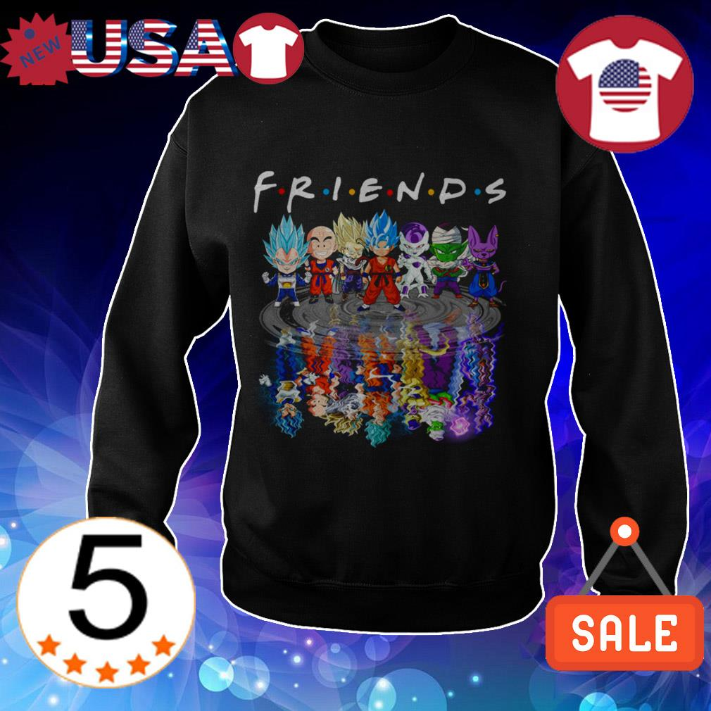 Dragon Ball Z all characters mirror reflection Friends TV Show shirt
