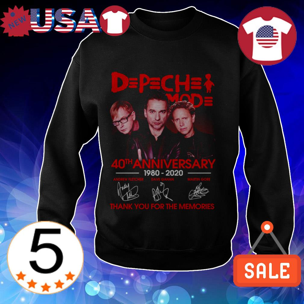 DPCH MOD 40th anniversary 19820 2020 thank you for the memories signatures shirt