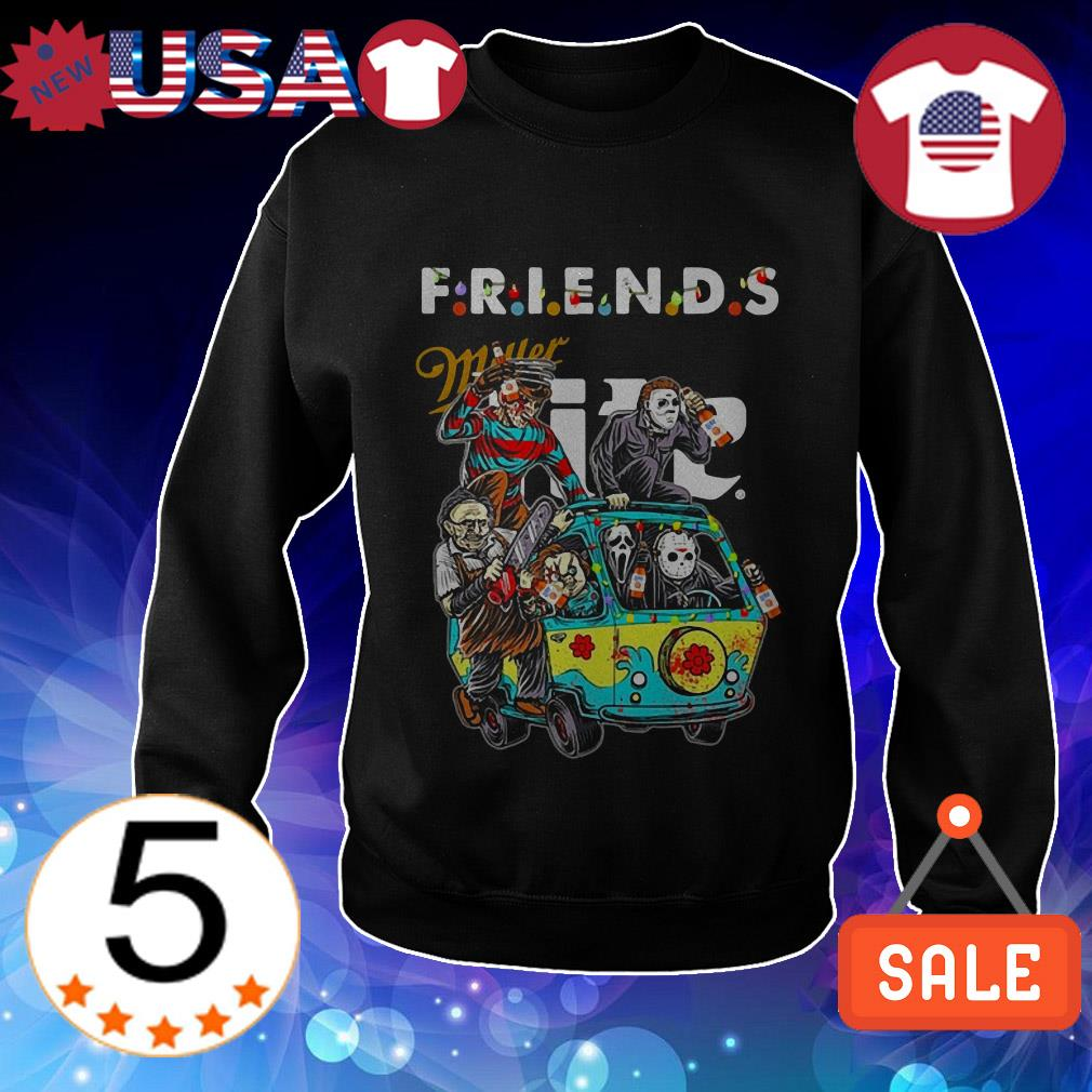 Miller Lite Horror characters movie driving car Friends TV Show shirt