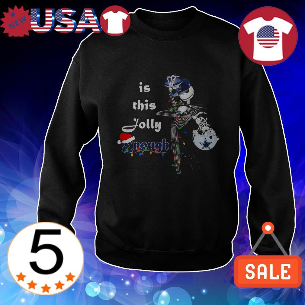 Dallas Cowboys Jack Skellington is this Jolly enough Christmas shirt
