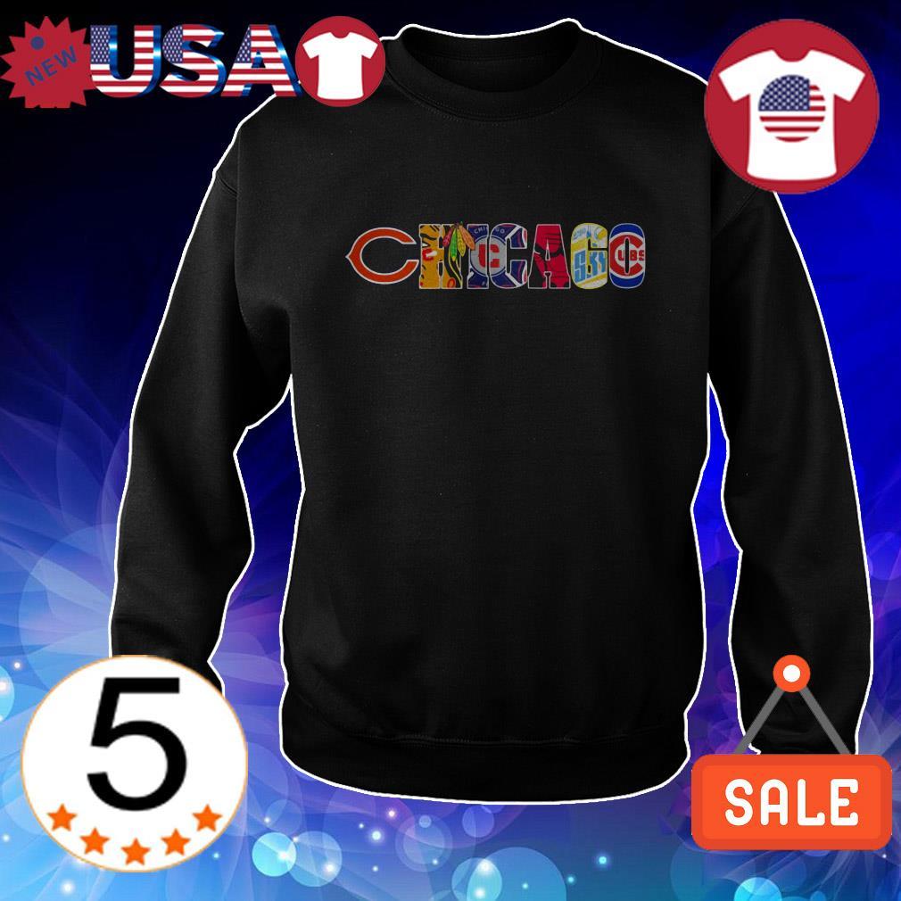 Chicago sport team Chicago Bears Blackhawks Bulls Cubs shirt