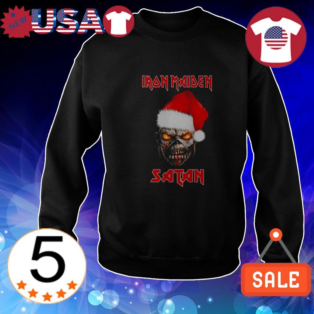 Merry Christmas Iron Maiden Satan shirt