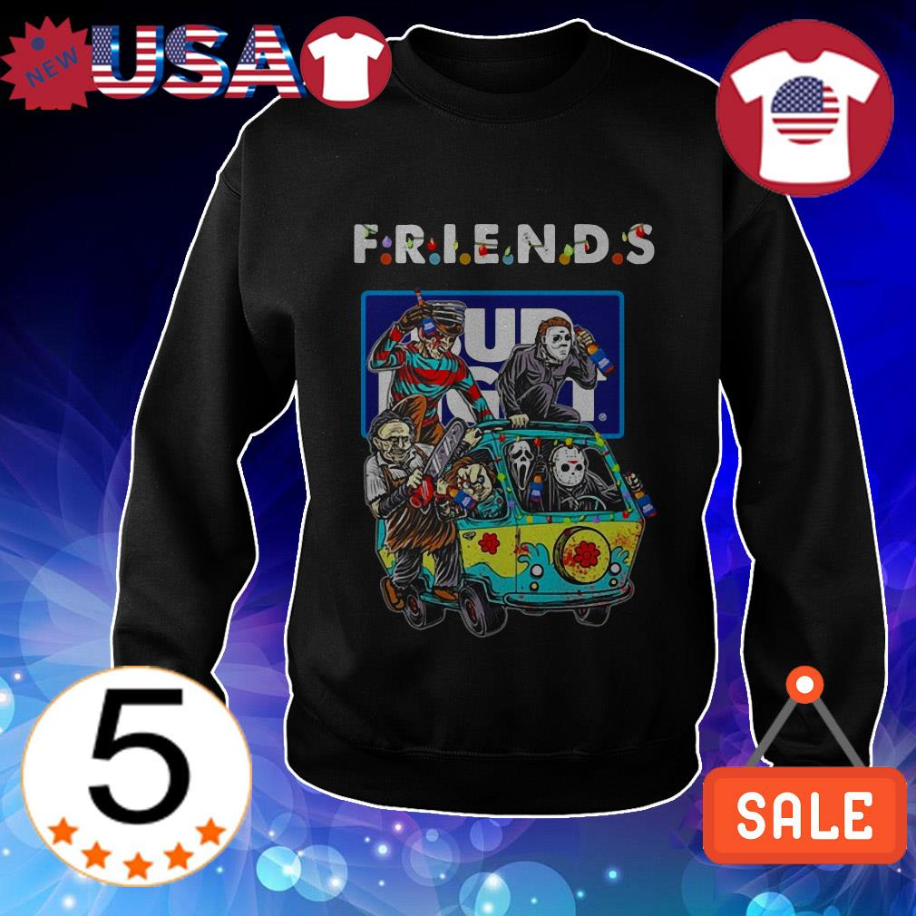 Bud Light Horror characters movie driving car Friends TV Show shirt