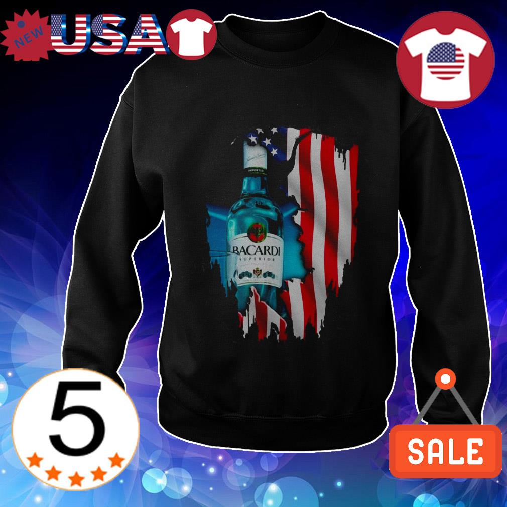 4th Of July independence day Bacardi Superior Wine shirt