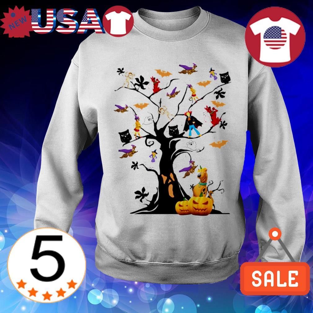 Scooby-Doo characters Halloween tree shirt