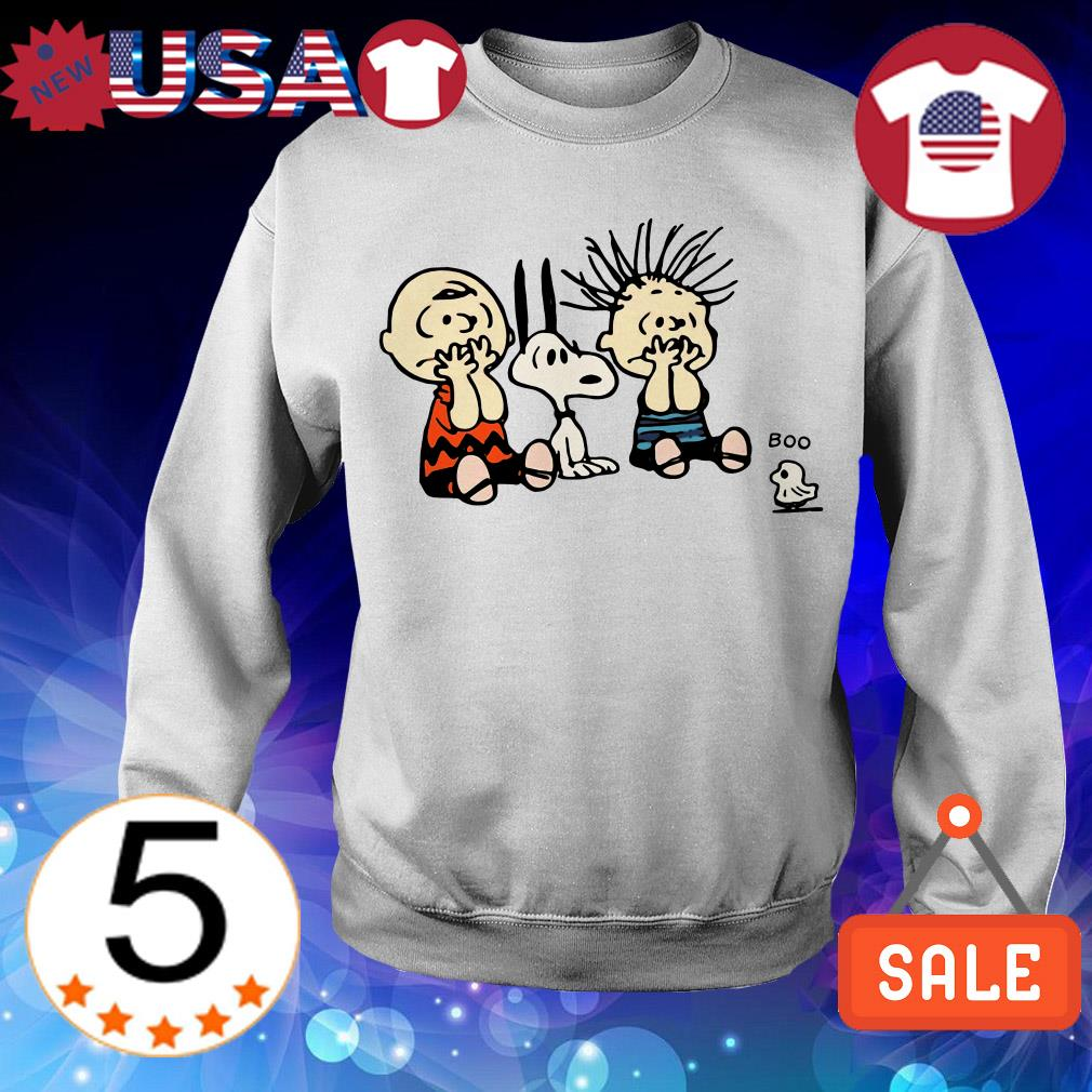Halloween Snoopy and Charlie Brown and Boo ghost shirt