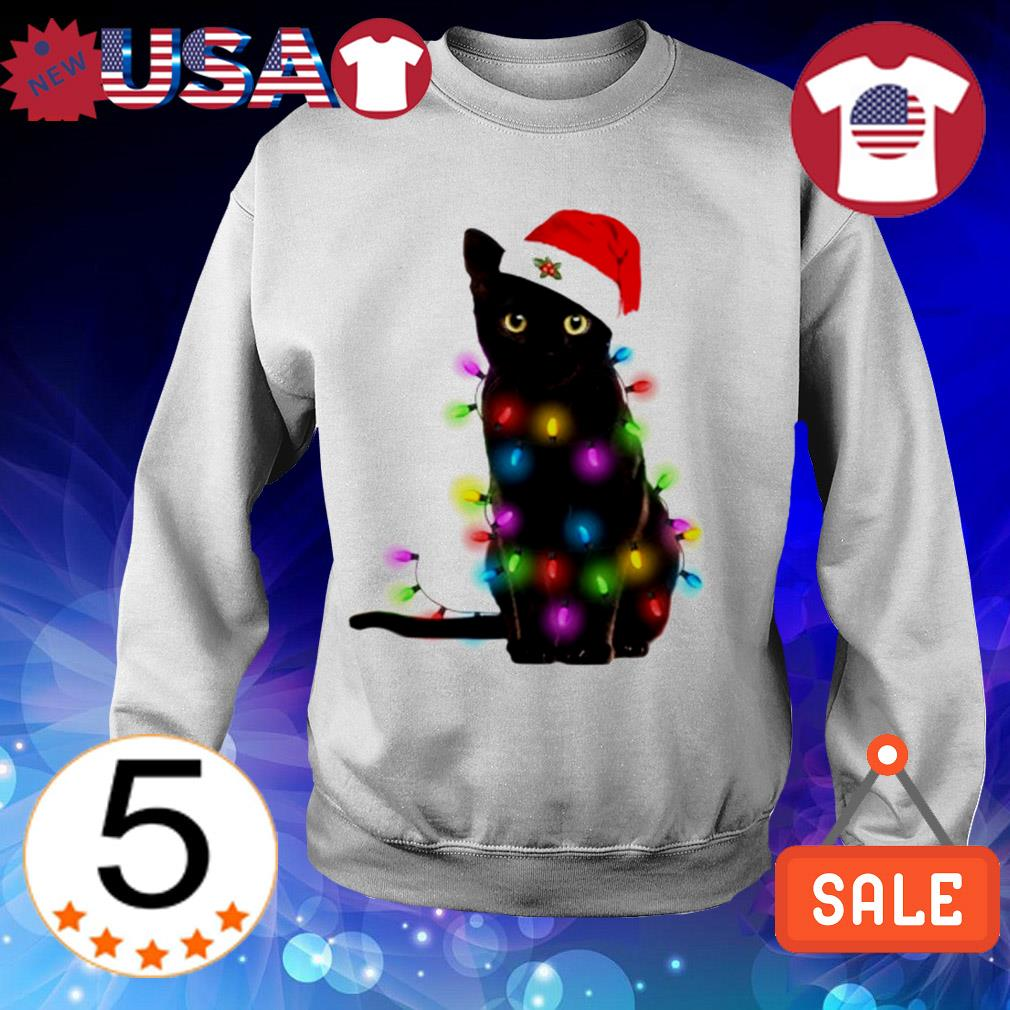 Cat merry and brigth Christmas sweater