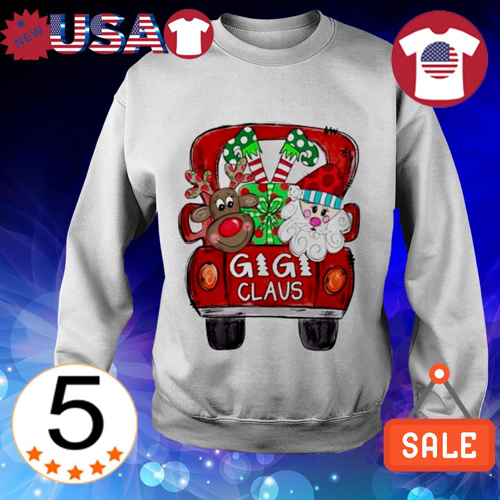 Merry Christmas Red car and gift Gigi Claus Sweater