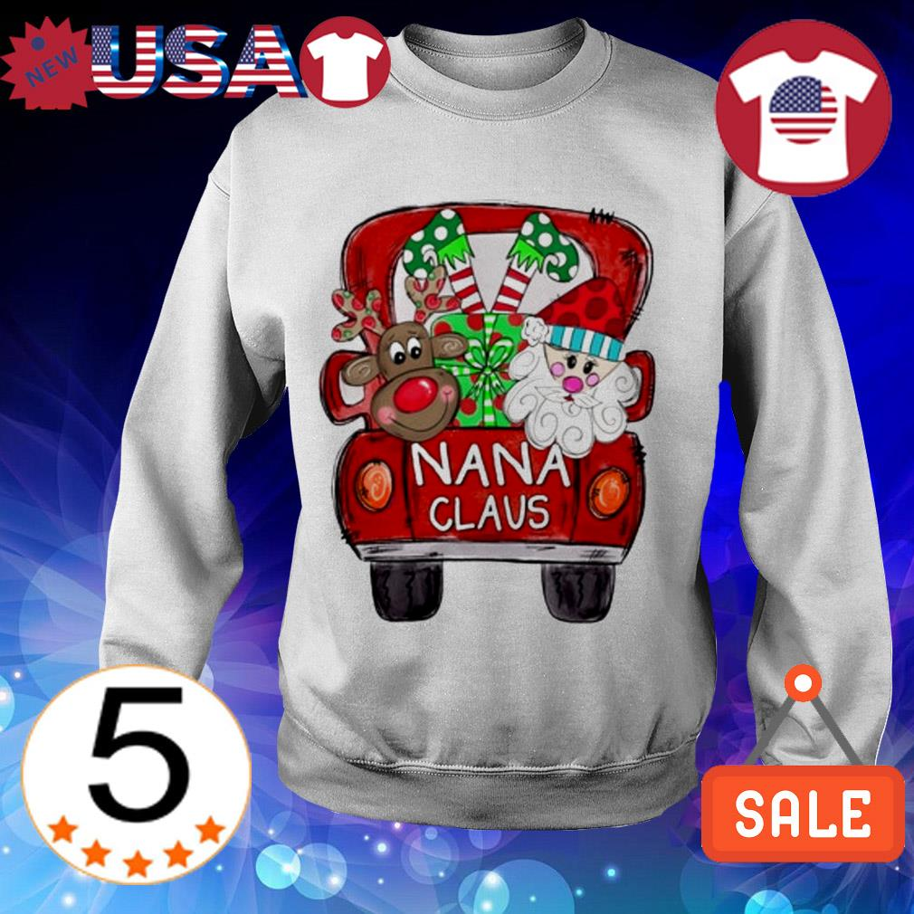 Merry Christmas Red car and gift Nana Claus Sweater
