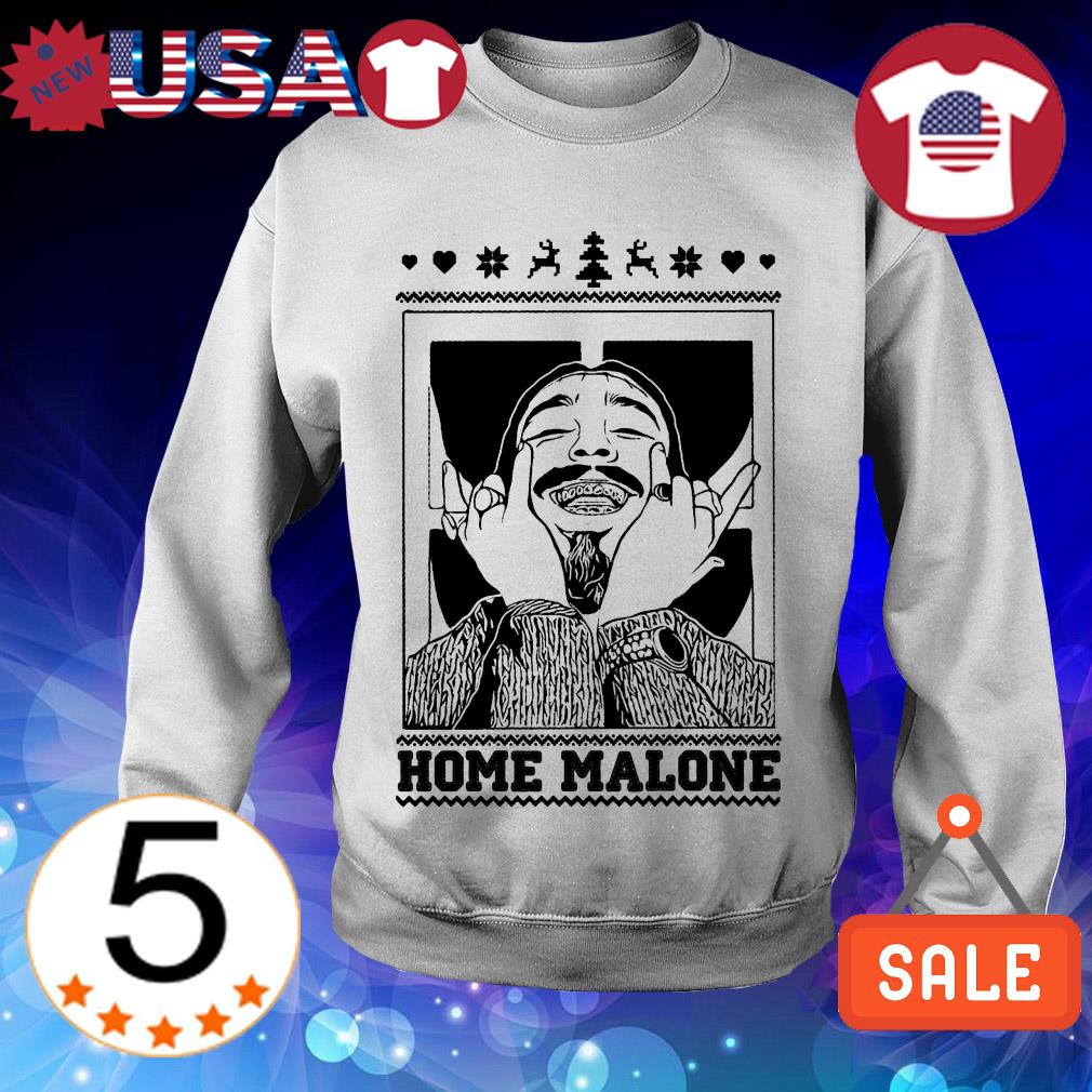 Post Malone home Malone ugly Christmas sweater
