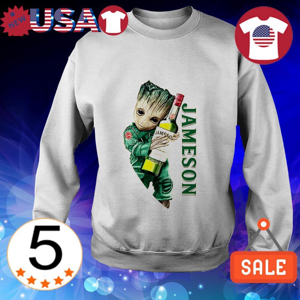 Baby Groot hug Jameson Whiskey shirt