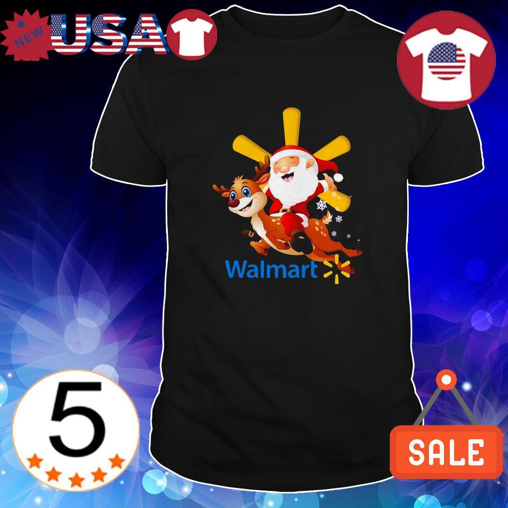 Walmart Santa Claus riding Reindeer shirt