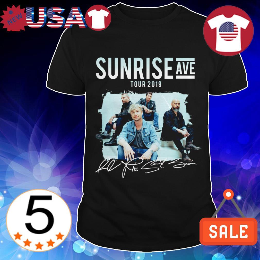 Sunrise Avenue tour 2019 signatures shirt