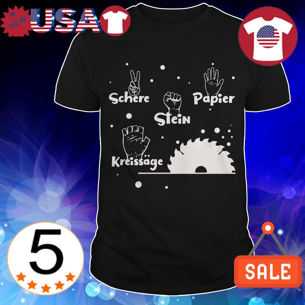 Schere Papier Stein Kreissage shirt