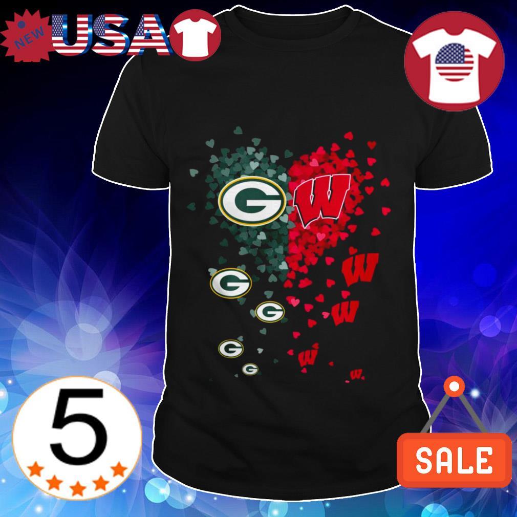 Green Bay Packers and Washington Nationals heart shirt