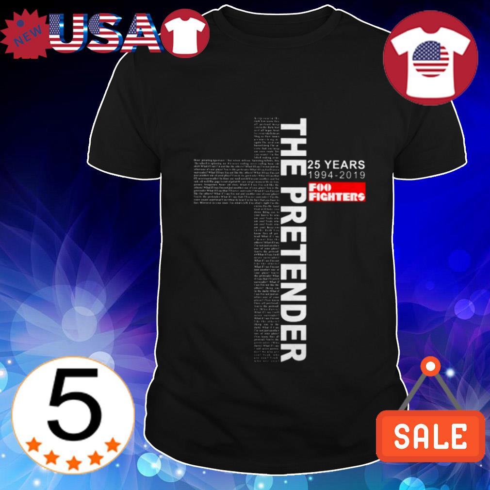 The Pretender 25 years 1994-2019 Foo Fighters Jesus shirt