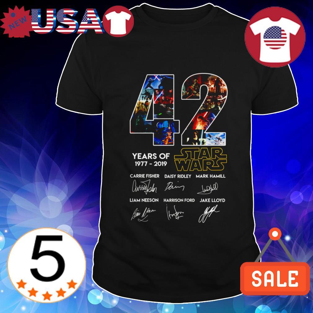 42 years of Star Wars 1977-2019 signature shirt